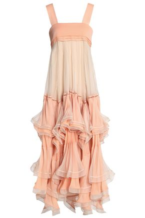 CHLOÉ Tiered georgette midi dress