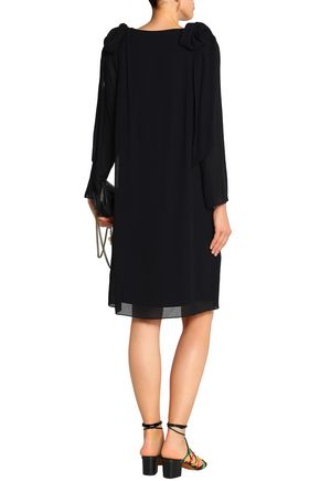 CHLOÉ Bow-embellished crepe dress