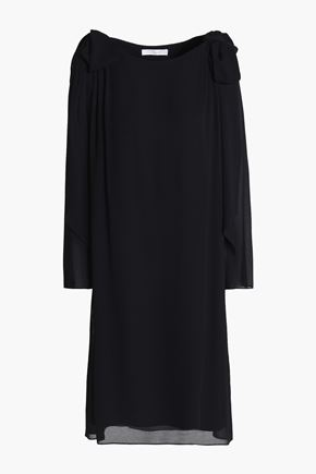 CHLOÉ Bow-embellished crepe dress