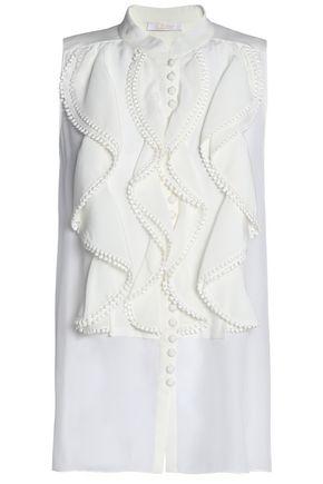 CHLOÉ Ruffled silk top