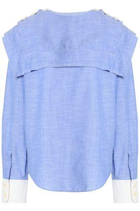 CHLOÉ Layered cotton-chambray shirt