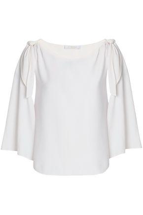 CHLOÉ Cold-shoulder crepe top