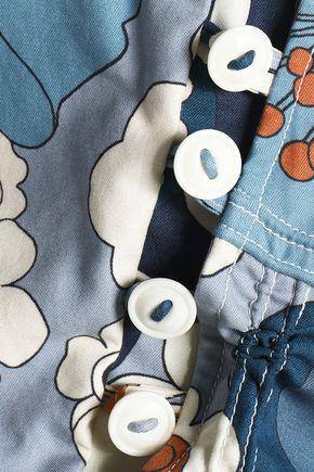 CHLOÉ Button-detailed floral-print cotton top