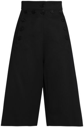 CHLOÉ Wool and cotton-blend twill culottes