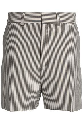 CHLOÉ Striped wool-blend shorts