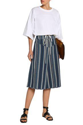 CHLOÉ Striped cotton-blend shorts