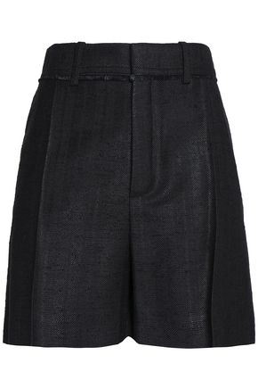 CHLOÉ Pleated woven silk shorts