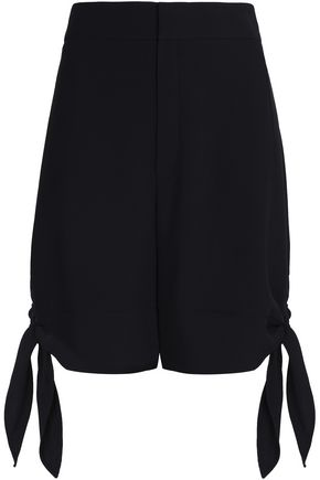 CHLOÉ Bow-embellished crepe shorts