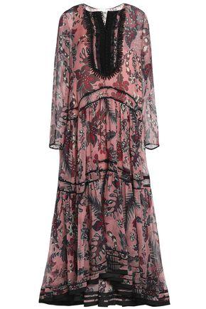 CHLOÉ Printed silk-crepe de chine midi dress