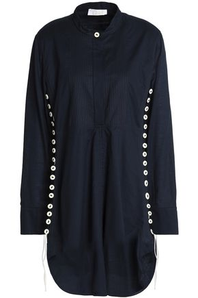 CHLOÉ Lace-up cotton mini dress