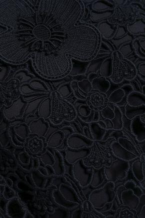 CHLOÉ Cotton macramé mini dress