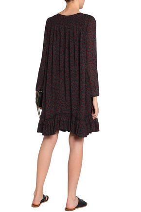CHLOÉ Printed cotton and silk-blend gauze dress