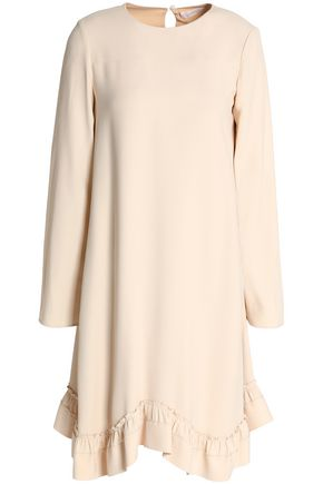CHLOÉ Ruffle-trimmed crepe dress