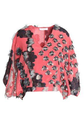 CHLOÉ Fil coupé silk-georgette blouse