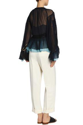 CHLOÉ Layered silk-gauze blouse