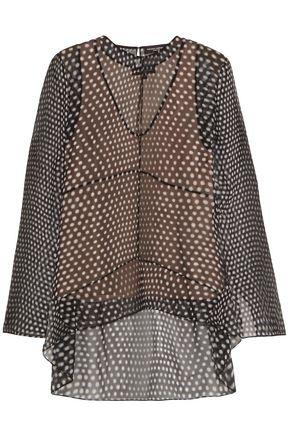 NARCISO RODRIGUEZ Cutout polka-dot silk-chiffon blouse