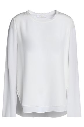 CHLOÉ Layered silk top