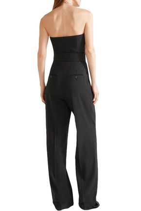 MICHAEL KORS COLLECTION Strapless belted wool jumpsuit