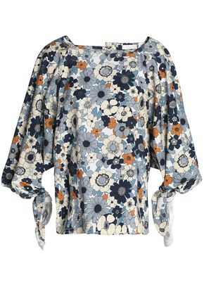 CHLOÉ Floral-print cotton top