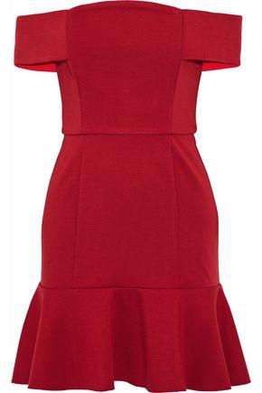 NICHOLAS Off-the-shoulder ponte mini dress