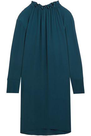 MARNI Gathered washed-crepe shirt dress