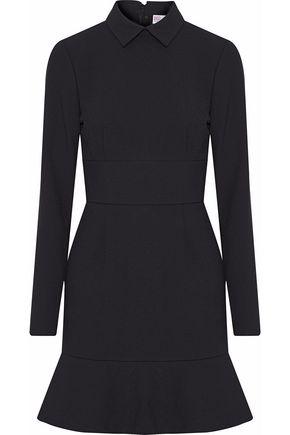 REDValentino Fluted crepe mini shirt dress