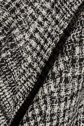 JASON WU Asymmetric wool-jacquard midi dress