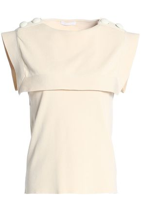 CHLOÉ Cape-effect cotton top