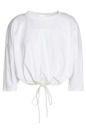 CHLOÉ Embroidered cotton-jersey top