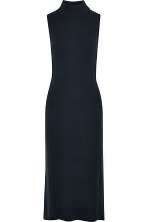 RAG & BONE Ribbed cashmere turtleneck midi dress