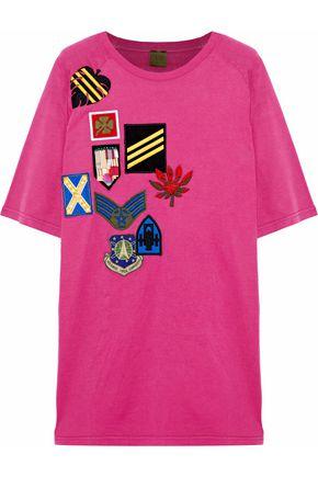 MR & MRS ITALY Appliquéd cotton-jersey T-shirt
