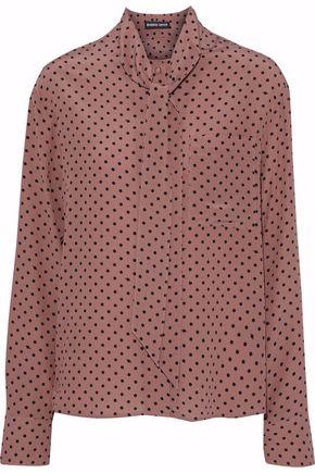 MARKUS LUPFER Abbie polka-dot silk crepe de chine blouse