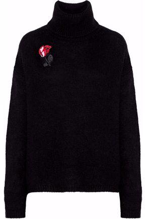 MARKUS LUPFER Didar sequin-embellished alpaca-blend turtleneck sweater