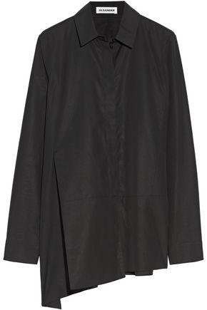 JIL SANDER Asymmetric cotton-poplin shirt