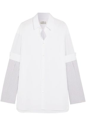 MAISON MARGIELA Paneled cotton-poplin shirt