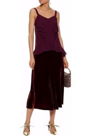 DEREK LAM Ruffled silk-georgette camisole