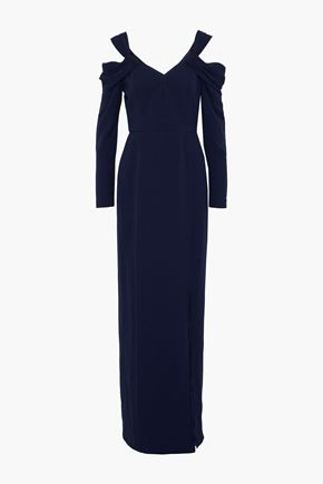 MIKAEL AGHAL Cold-shoulder crepe gown