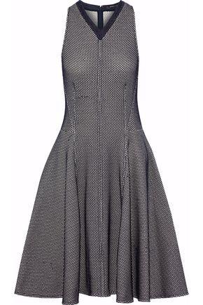 DEREK LAM Pleated jacquard-knit dress
