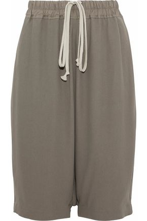 WOMAN CREPE SHORTS GRAY
