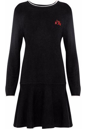 GANNI Mercer embroidered wool-blend dress
