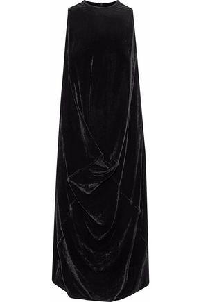 RICK OWENS Draped velvet dress