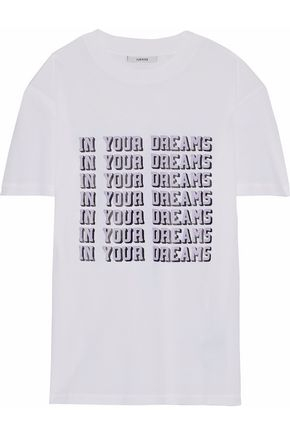 GANNI Harway printed cotton-jersey T-shirt
