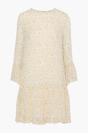 GANNI Clermont floral-print georgette mini dress