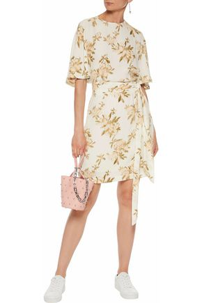 GANNI St. Pierre floral-print crepe mini dress