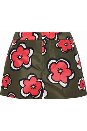 REDValentino Floral-print satin-faille shorts