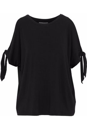 REBECCA MINKOFF Cold-shoulder stretch-knit top