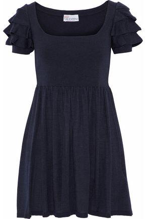 REDValentino Ruffled wool-blend mini dress