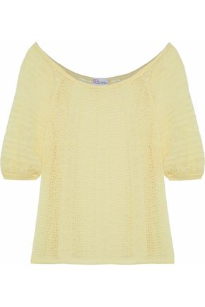 REDValentino Pointelle-knit sweater