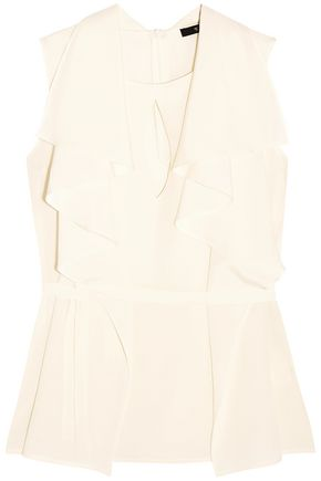 ETRO Layered belted silk crepe de chine blouse