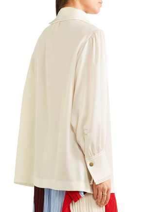 SONIA RYKIEL Button-detailed crepe blouse